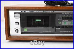 Vintage TEAC V-95RX Stereo Cassette Deck Auto Reverse DBX Wood Case Record Issue