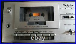 Vintage TECHNICS RS-616 By PANASONIC Stereo Cassette Deck Tape Player Recorder