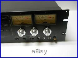 Vintage Tascam 112 Mkii Professional Rack Mount Studio Cassette Deck Recorder