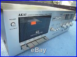 Vintage Working Akai GXC-709D Cassette Tape Player Recorder Deck w Manual