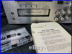 Vintage YORX (M2601) AM/FM RECEIVER, CASSETTE RECORD PLAYER8 TRACKrare READ