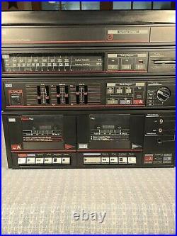 Vtg Jc Penney Am/fm Stereo Dual Cassette Recorder Phono Model 683-1798 Speakers