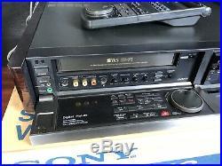Vtg Sony SLV-R5UC S-VHS Hi-Fi Stereo Video Cassette Recorder Digital Pic A001